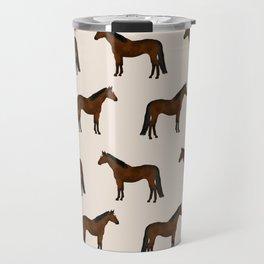 Bay Horse breed farm animal pet pattern horses Travel Mug