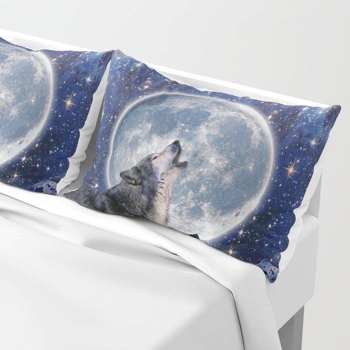 A One Wolf Moon Pillow Sham
