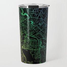 Minsk, Belarus, City, Map, Rainbow, Map, Art, Print Travel Mug