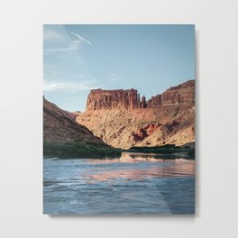 Cathedral Rocks on the River Metal Print