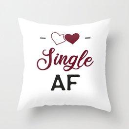 Single AF Throw Pillow