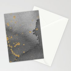 Gray and gold Stationery Cards