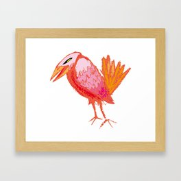 Red Crow Framed Art Print