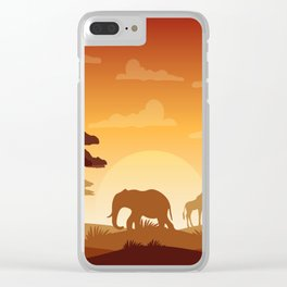 Abstract African Safari Clear iPhone Case