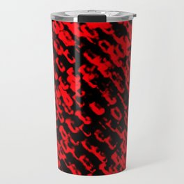 Red sublime metal pattern Travel Mug