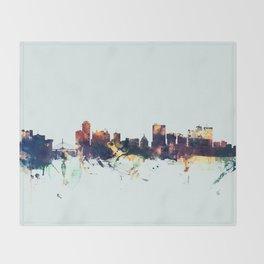 Winnipeg Canada Skyline Throw Blanket