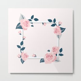Rose Frame Metal Print