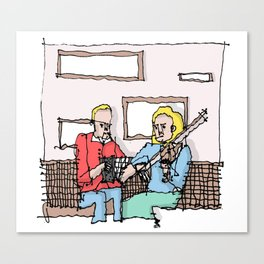 Trad Irish Music  Canvas Print