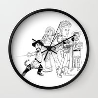 bastille Wall Clocks featuring OPC Bastille by Other People's Characters