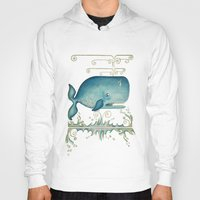 whale Hoodies featuring WHALE by Patrizia Ambrosini