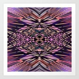 PRETTY PINK SWEEPING LINES Art Print