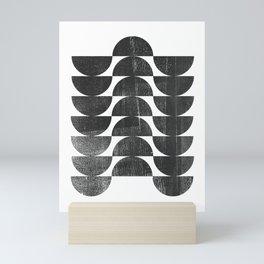 Mid Century Modern Op Art Black and White Pattern Mini Art Print