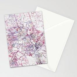 New Delhi Map Stationery Cards