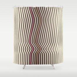 OpArt WaveLines 3 Shower Curtain