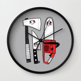 Happy Slasher Pals Wall Clock