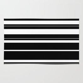 Black And White Stripes Rug