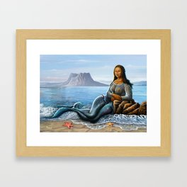 Monalisa Mermaid Framed Art Print