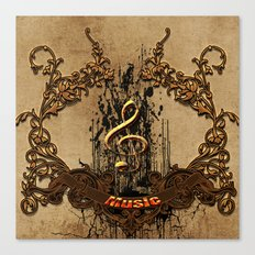 Music, decorative clef  Canvas Print