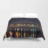 bridge Duvet Covers featuring Bridge by Genevieve Einwalter