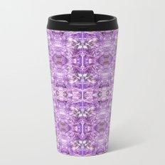 lilac stone flower Metal Travel Mug
