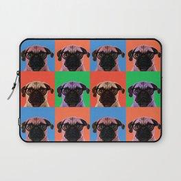 Pop Art Pug in 4 colors Laptop Sleeve