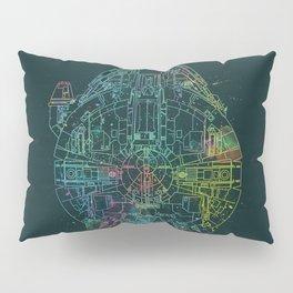 Millennium Falcon Painters Schematic Pillow Sham