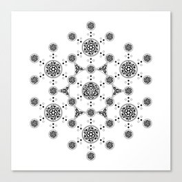 molecule. alien crop circle. flower of life and celtic patterns Canvas Print