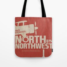 North by Northwest - Alfred Hitchcock Movie Poster Tote Bag