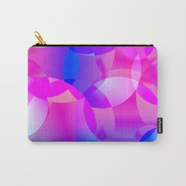 Violet and blue soap bubbles. Carry-All Pouch