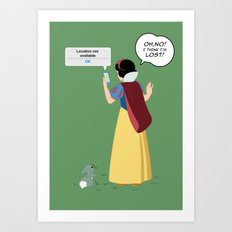 SnowWhite - A smile and a song Art Print