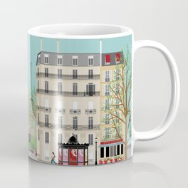 Paris Street Scene Art Print - Daytime Coffee Mug