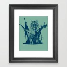 Paint Tiger Framed Art Print
