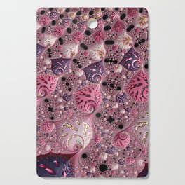 Pink Fractal Cutting Board