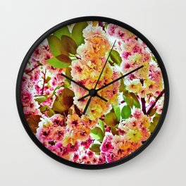 Polychrome Beauty In Full Bloom Wall Clock