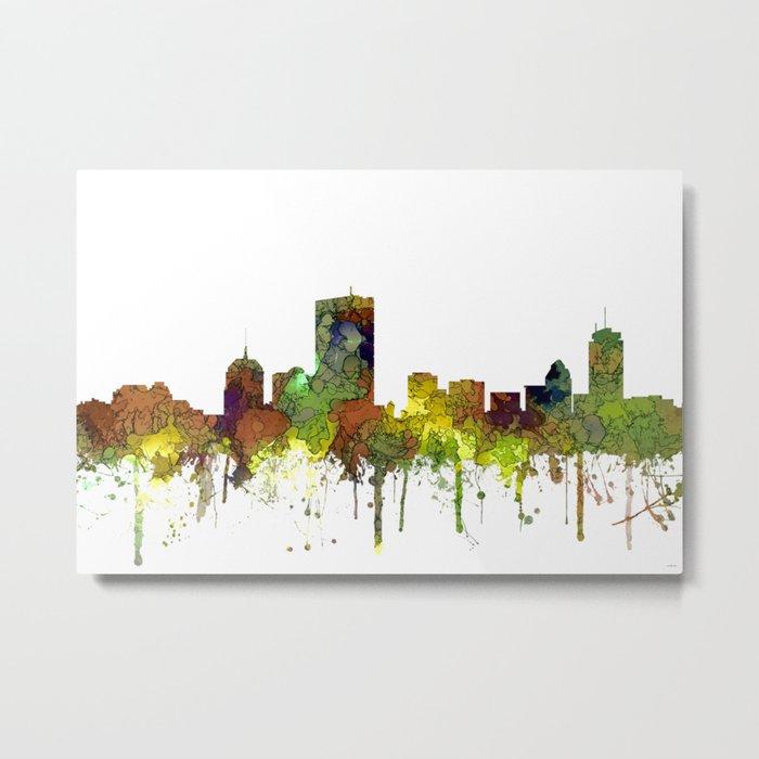 Boston, Massachusetts Skyline SG Safari Buff Metal Print
