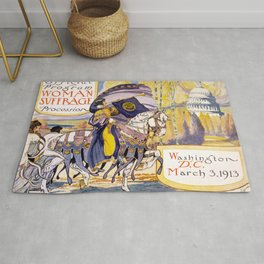 Woman suffrage procession March 3, 1913 Rug