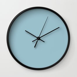 Solid Blue Wall Clock