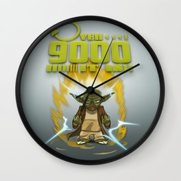 Over 9000 it is - Yoda Wall Clock