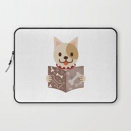 Cute dog with a catalog of bone illustration Laptop Sleeve