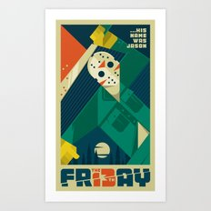 Friday 13 Art Print