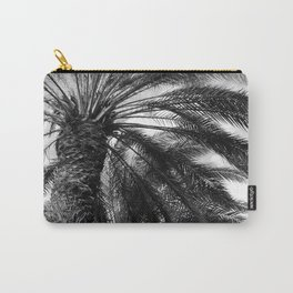 Island Tropical Palm Trees in Noir Upshot Photo Carry-All Pouch