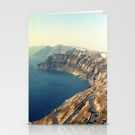 The insane roads of Santorini Stationery Cards