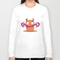 icecream Long Sleeve T-shirts featuring Icecream monster by Maria Jose Da Luz