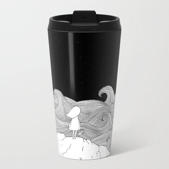 I wonder what is on the other side. Metal Travel Mug