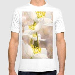 Black Cat With White Flowers #decor #buyart #society6 T-shirt