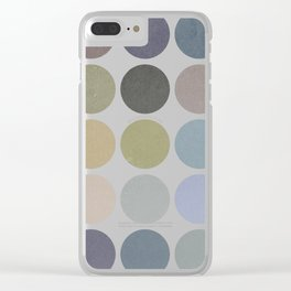 circles of color Clear iPhone Case
