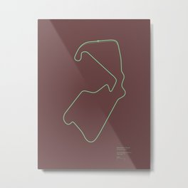 F1 Circuit Infographic- Silverstone Circuit, England Metal Print