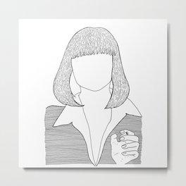 Pulp Fiction - Mia Wallace Metal Print