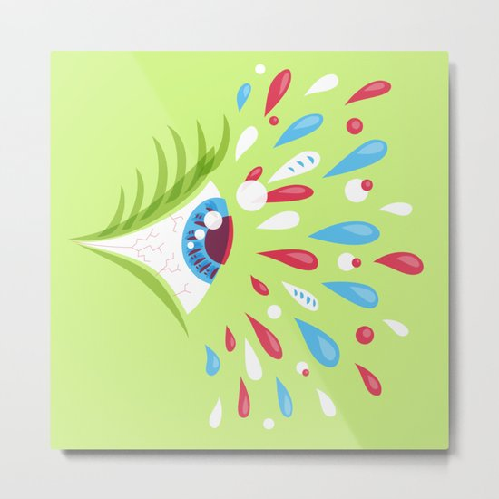 Psychedelic eye Metal Print