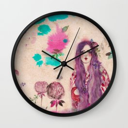 Asuka Girl Wall Clock